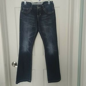 Maurices Womens 3/4 Short Flare Leg Jeans